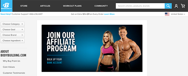 bodybuilding.com affiliate program